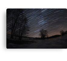 Winter night sky Canvas Print