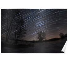 Winter night sky Poster