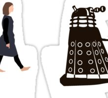 Doctor Who 12th Doctor, Clara and Daleks on Abbey Road Sticker