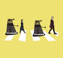 Doctor Who 12th Doctor, Clara and Daleks on Abbey Road Kids Tee