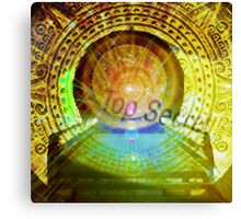 mayan time travel machine Canvas Print