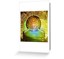 mayan time travel machine Greeting Card