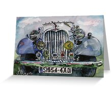 1954 Singer Car 4 ADT Roadster Greeting Card