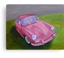 Red Porsche 356 Canvas Print