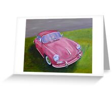 Red Porsche 356 Greeting Card