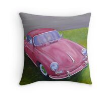 Red Porsche 356 Throw Pillow