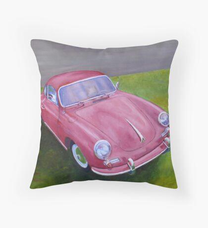 Red Porsche 356 Throw Pillow