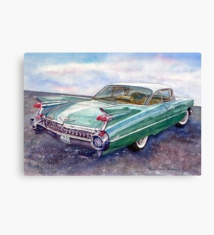 Cadillac Cruising Canvas Print