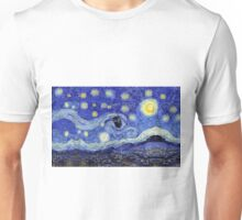 Starry Night Inspiration Dr Who Tardis Unisex T-Shirt