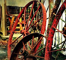 Wagon Wheels of Monterey by paintingsheep