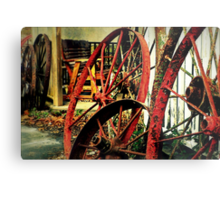 Wagon Wheels of Monterey Metal Print