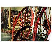 Wagon Wheels of Monterey Poster