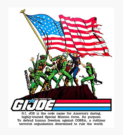 G.I. Joe 1982 - Stars and Stripes Forever Photographic Print