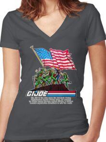 G.I. Joe 1982 - Stars and Stripes Forever Women's Fitted V-Neck T-Shirt