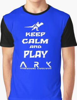 KEEP CALM AND PLAY ARK white Graphic T-Shirt