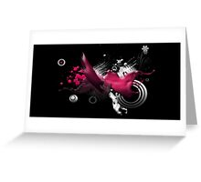 Splattered outter space paint Greeting Card