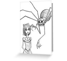 Miss Muffet Greeting Card