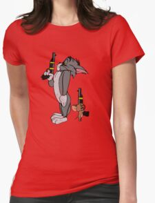 Tom & Jerry Womens Fitted T-Shirt