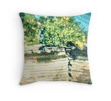 A scenery with summer oranges Throw Pillow