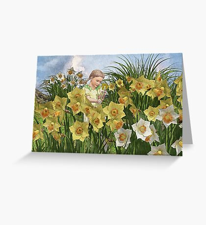 Little Lady of the Daffodils Greeting Card