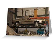 1981 DeLorean DMC-12 'Waiting for the Future' Greeting Card