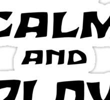 KEEP CALM AND PLAY ARK black Sticker