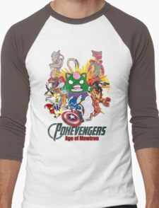 Pokevengers: Age of Mewtron Men's Baseball ¾ T-Shirt