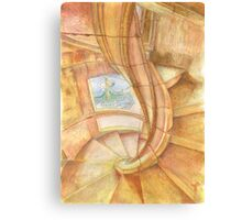 Tomar. Convent. cloister stairs Canvas Print