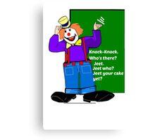Clown Knock-Knock Joke Card Canvas Print