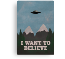 X-Files Twin Peaks mashup v2 Canvas Print