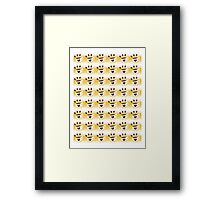 Coffee cup hipster pattern Framed Print