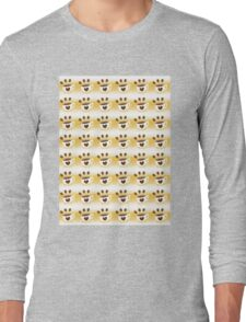 Coffee cup hipster pattern Long Sleeve T-Shirt