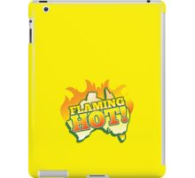 FLAMING HOT with aussie map and fire! iPad Case/Skin