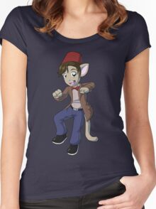 11th Doctor Matt Smith Kitty Women's Fitted Scoop T-Shirt