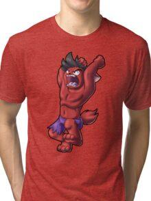 Kitty Hulk (Red) Tri-blend T-Shirt