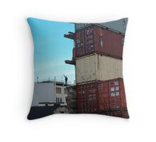 Quake Containers Throw Pillow