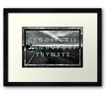 The Moody Alphabet  Framed Print