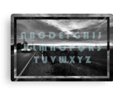 The Moody Alphabet  Canvas Print