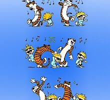 Calvin and Hobbes Dancing by casecute