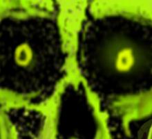GREEN SKULL II Sticker