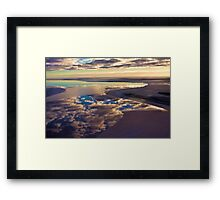 Lake Eyre cloud reflections Framed Print