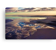 Lake Eyre cloud reflections Canvas Print
