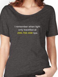 E=MC2  ?       Light Speed Tee (metric) Women's Relaxed Fit T-Shirt