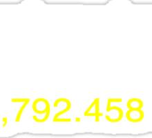 E=MC2  ?       Light Speed Tee (metric) Sticker