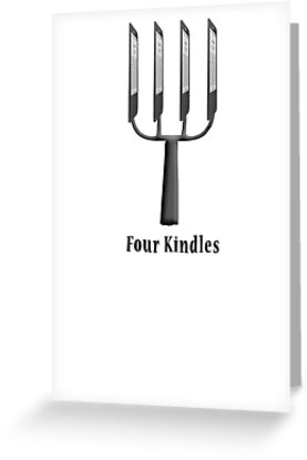 Four Kindles?  -  T Shirt by BlueShift