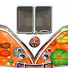Hippie Orange Volkswagen Camper Van by casecute