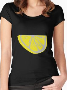 Slice of lemon Women's Fitted Scoop T-Shirt