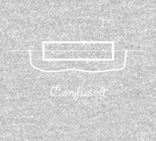 Confused - Slogan Tee One Piece - Long Sleeve