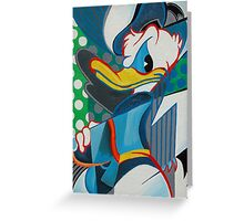 donald abstract Greeting Card
