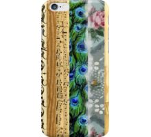 Peacock Feathers, Flowers, Leaves, Music Notes iPhone Case/Skin